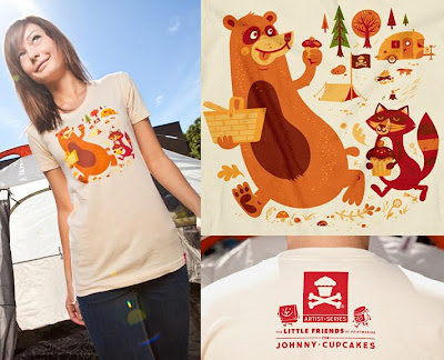Johnny Cupcakes Artist Series 3 - Camp T-Shirt by The Little Friends Of Printmaking