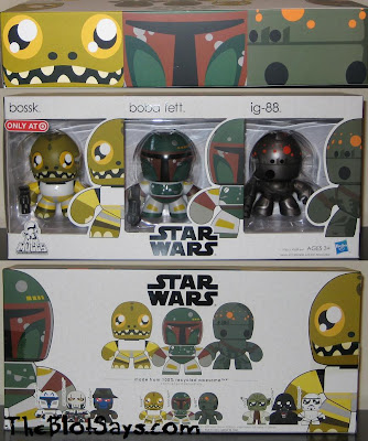 Star Wars Mini Mighty Muggs - IG-88, Boba Fett &amp; Bossk In Packaging