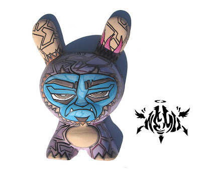 NEMO x Tenacious Toys Hand Painted Custom 8 Inch Dunny Wall Mount Plaster Figure
