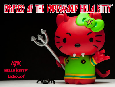 Kidrobot x Sanrio Empress of the Underworld Hello Kitty 6 Inch Vinyl Figure by Frank Kozik