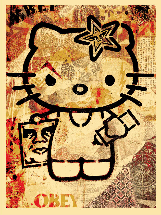 The Blot Says...: Sanrio x Obey Giant Hello Kitty Print by Shepard ...
