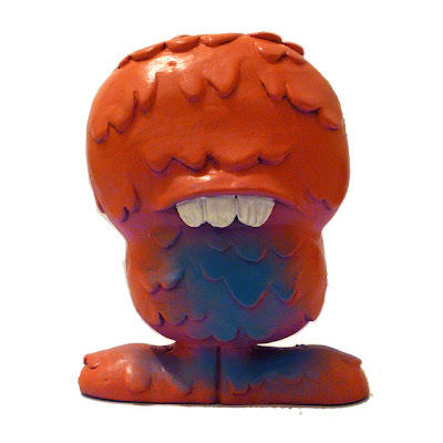 Custom Hawaiian Pizza Globulon Resin Figure by Abe Lincoln Jr.