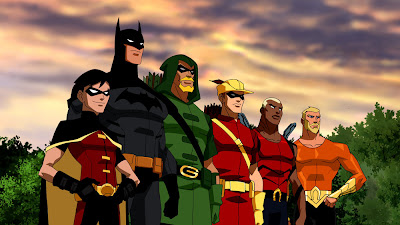 Young Justice Animated Television Series - Robin, Batman, Green Arrow, Speedy, Aqualad &amp; Aquaman