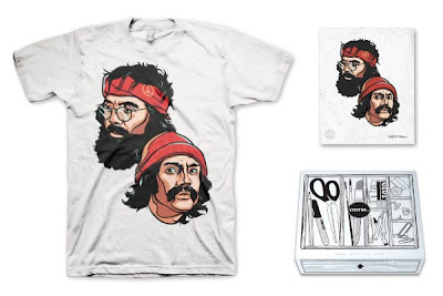 LTD Tee - Up In Smoke T-Shirt & Art Print Box Set by Cloxboy