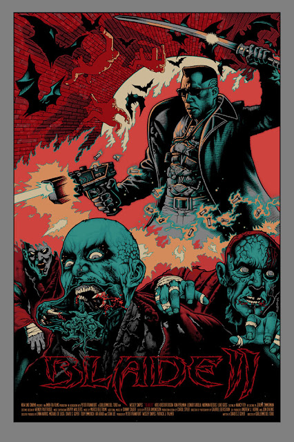 Mondo Tees - Blade II Screen Print Variant Red Edition by Mike Sutfin