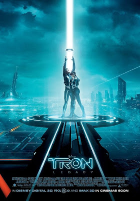 TRON: Legacy Movie Poster Triptych - Garrett Hedlund as Sam Flynn & Olivia Wilde as Quorra