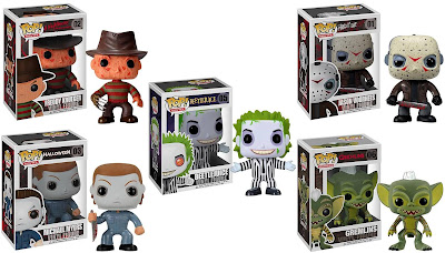 Pop! Movies Wave 1 (Horror) - Freddy Freddy Krueger, Jason Voorhees, Michael Myers, Beetlejuice & Stripe (Gremlins) Vinyl Figures