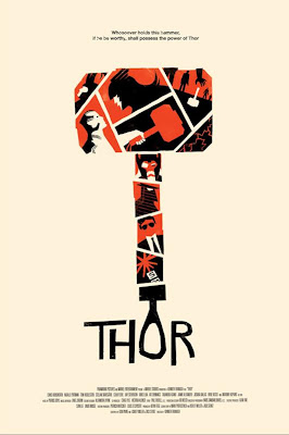 Thor Movie Screen Print by Olly Moss