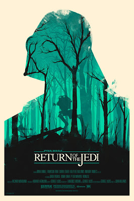 Mondo Star Wars Screen Print Series #18 - The Original Star Wars Trilogy Set by Olly Moss - Return of the Jedi