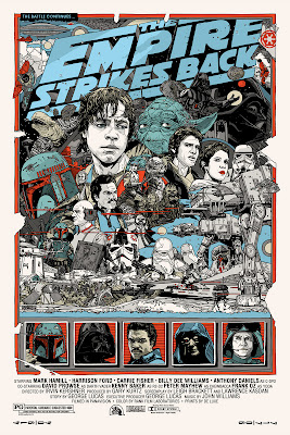 Mondo Star Wars Screen Print Series #20 - The Original Star Wars Trilogy Set by Tyler Stout - The Empire Strikes Back