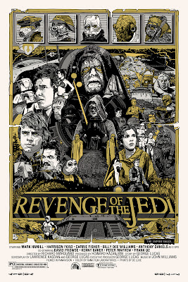 Mondo Star Wars Screen Print Series #20 - The Original Star Wars Trilogy Set by Tyler Stout - Return of the Jedi Variant