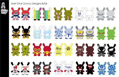 Dunny Design Submissions from 2006 by Sket-One