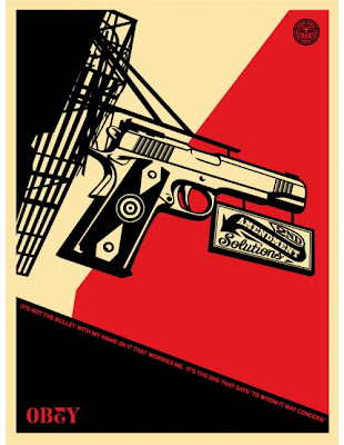 Obey Giant - 2nd Amendment Solutions Screen Print by Shepard Fairey