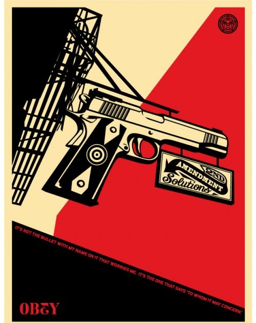 the blot says obey giant 2nd amendment solutions screen print by shepard fairey. Black Bedroom Furniture Sets. Home Design Ideas