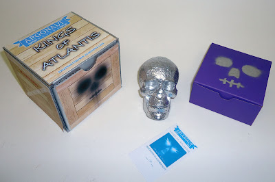 Tenacious Toys Exclusive Silver Peace Kings of Atlantis Skull and Packaging by Argonaut Resins