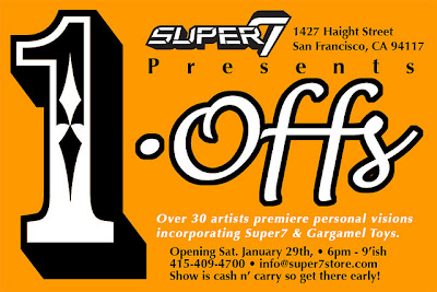 1-Offs Custom Vinyl Toy Show at Super7