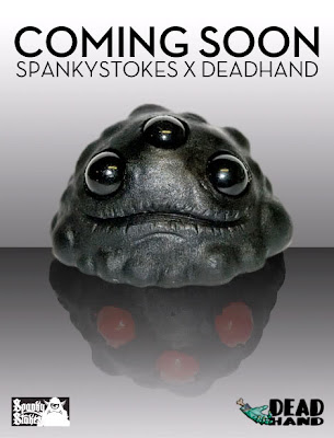 Spanky Stokes x Dead Hand Studios Exclusive Matte Black Gread Resin Figures by Lysol