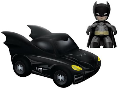 Batman Mini-Mez-Itz Vinyl Figure and Batmobile Set by Mezco Toyz