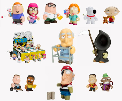 Family Guy Mini Figure Series and Packaging by Kidrobot
