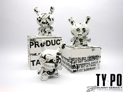 Ty_po Custom Dunny Series 1 and Screen Printed Packaging by Ryan the Wheelbarrow