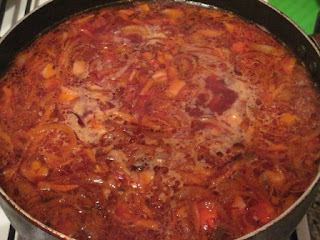 Суп лапша со свеклой