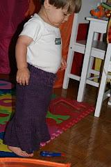 Nicholas in a skirt