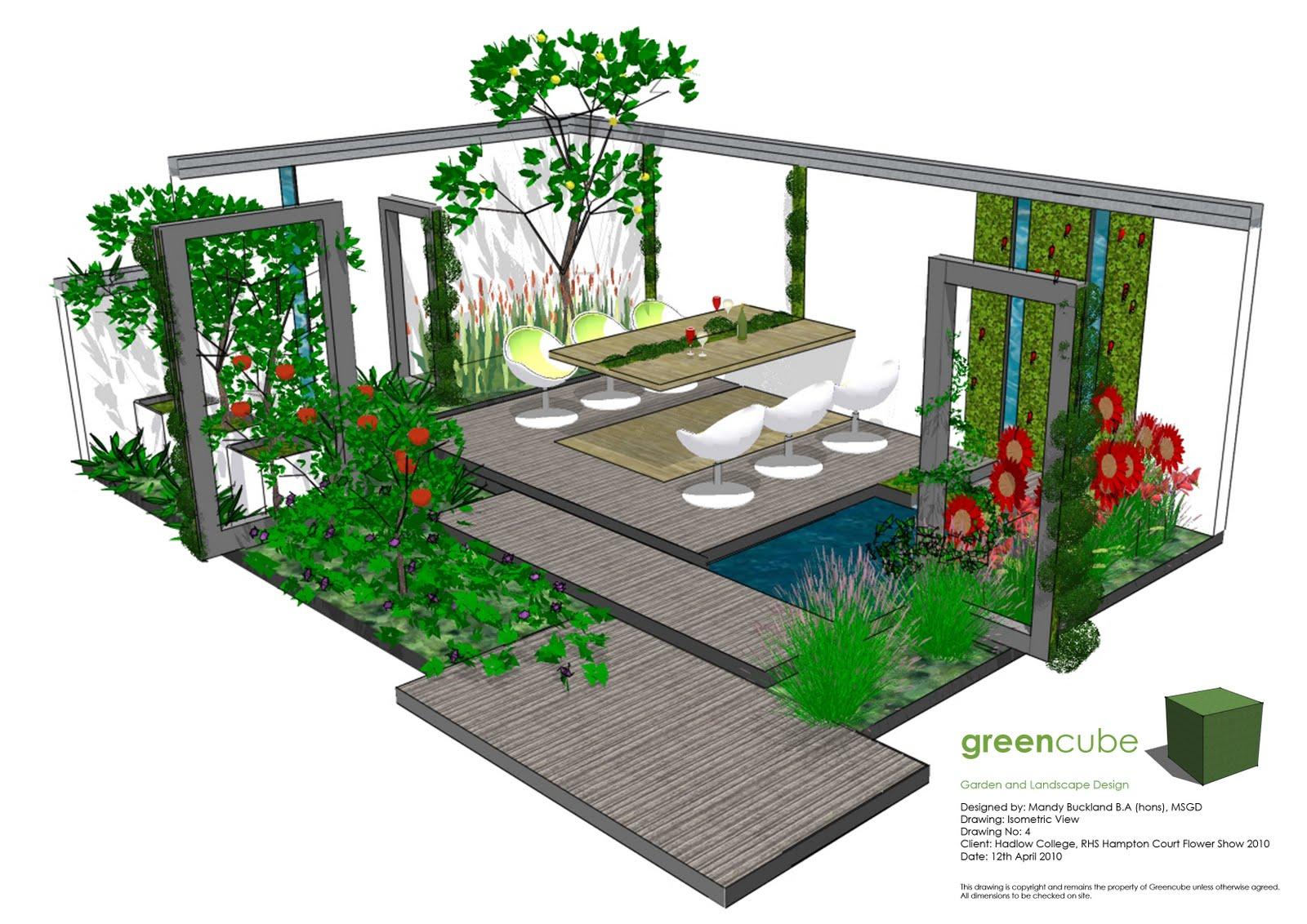 Modern Garden Landscape Plan 1600 x 1132