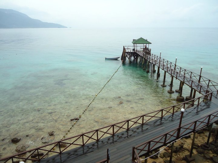 Panuba Inn Resort jetty from Super Durian room, Tioman - Malaysia