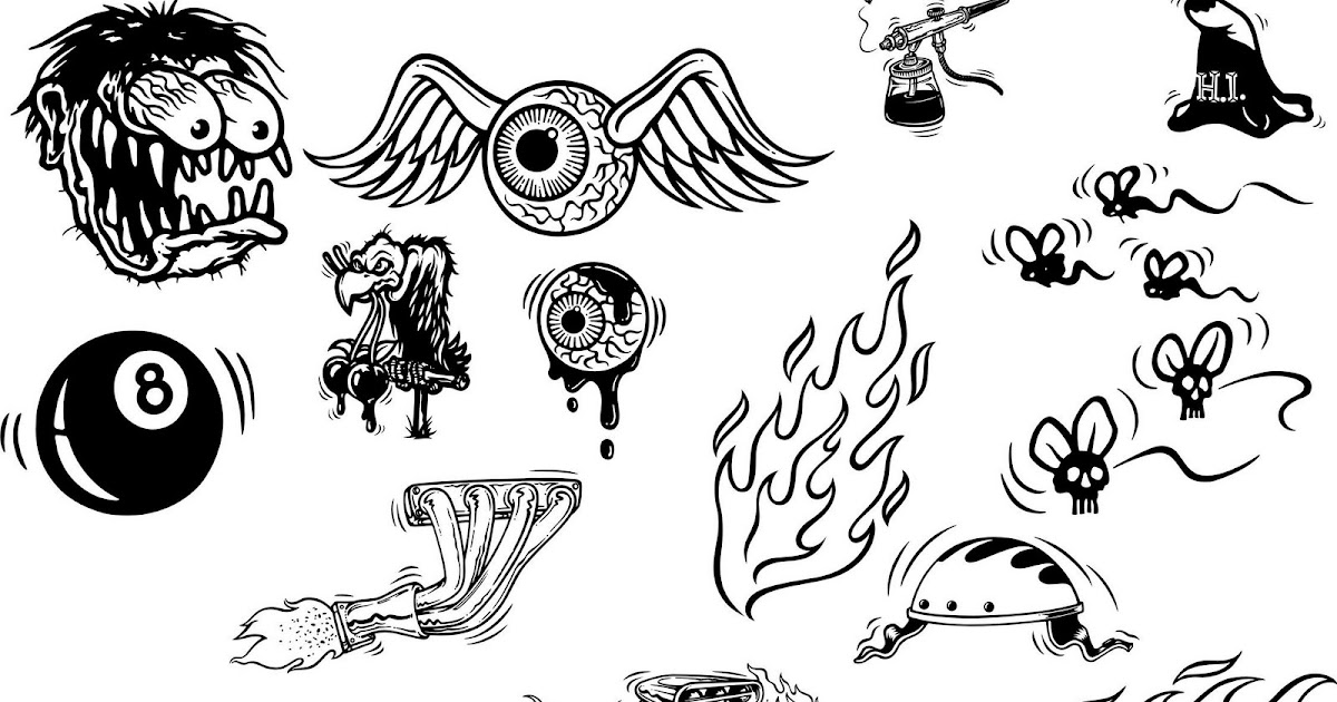 Pochoir Tatouage Temporaire Unik Tattoo Flamme Figuratif 57 fr 4 FIG57 in addition Rat Fink Monster Icons also Racer 20clipart 20race 20flag additionally I additionally Rf  206 23. on car silhouette