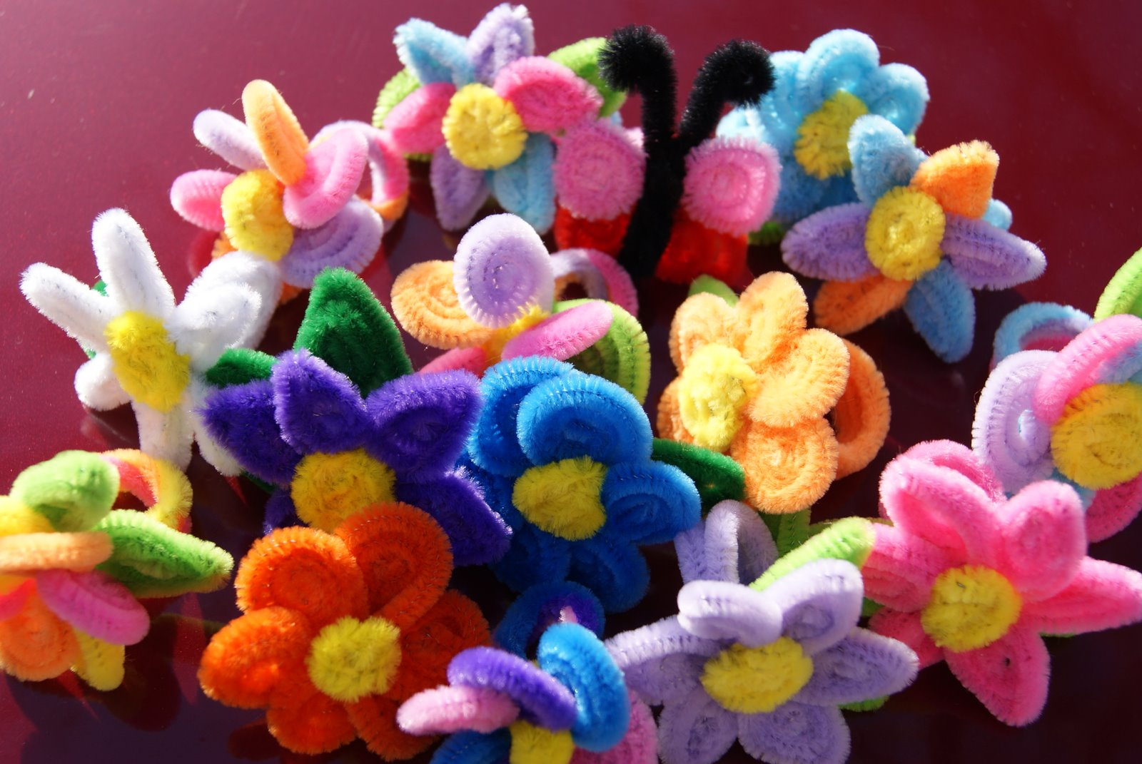 pipe cleaners craft stems coloured chenille assorted mixed