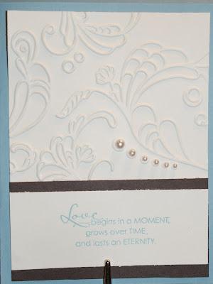 Espresso marine blue and cream wedding stationery