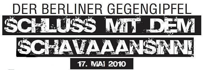 Schluss mit dem Schavaansinn!! 17. Mai! Gegengipfel