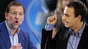 Rajoy y Zapatero en debate televisado