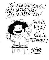 mafalda reforma constitucional marcha foto vamos por el si si si si