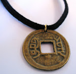 I ching chinese coin necklace