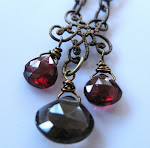 Arabian Night Garnet and smoky quartz