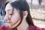 my Beautiful friend and customer Dana wears healing stones in her ears!