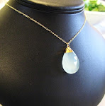 SOMETHING BLUE wedding necklace