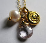 Serenity. White topaz and 22K vermeil lotus