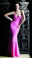Sexy hot pink body hugging prom dress