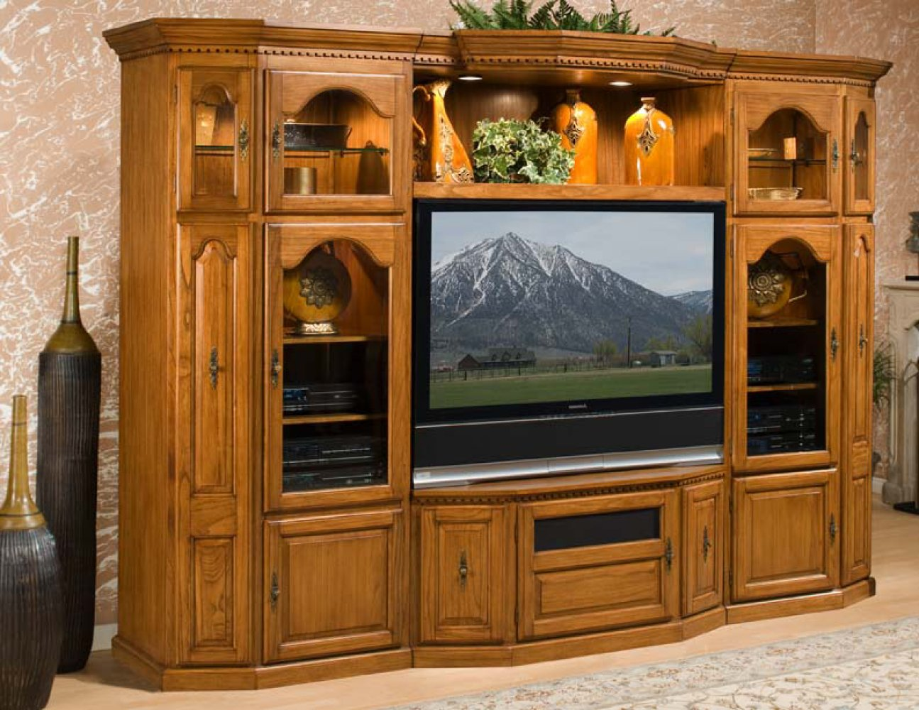 Entertainment center furniture ideas Wooden entertainment center furniture