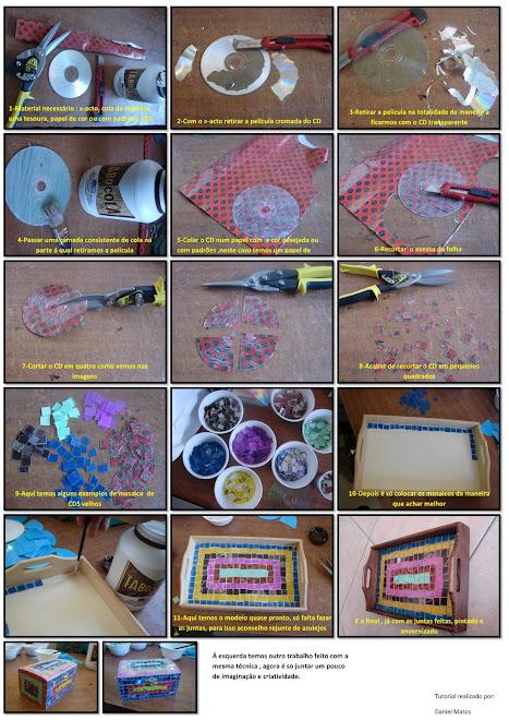 tutorial reciclagem de CDS, mosaico