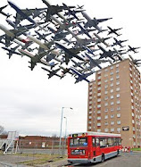 Planes flying over Hounslow in a one hour period