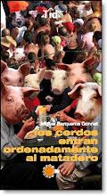 Los  cerdos entran ordenadamente al matadero
