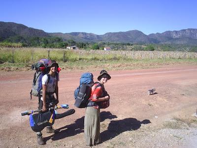 Roli+e+Mi+saindo+do+Goi%C3%A1s Viajeros   nos fluxos da América do Sul