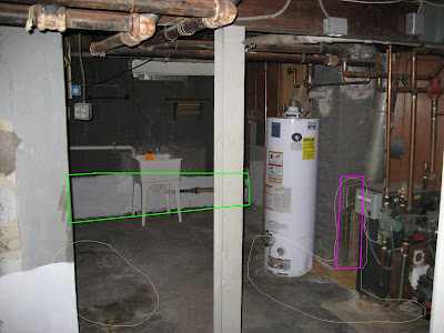 basement water issues marked