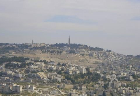 Jerusalem - View of the Mount of Olives -  from Armon Hanatziv