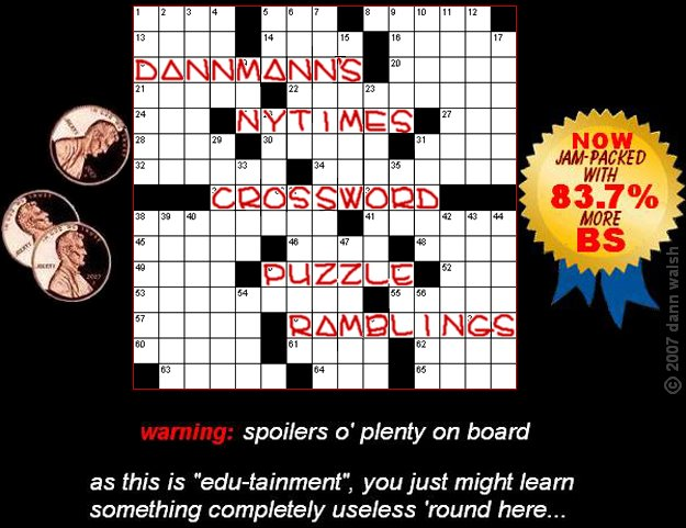 dannmann&#39;s NYT crossword puzzle ramblings