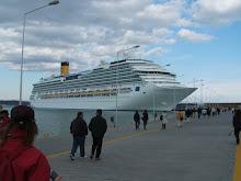 La prima sosta in Grecia a Olimpia nel porto di katakolon