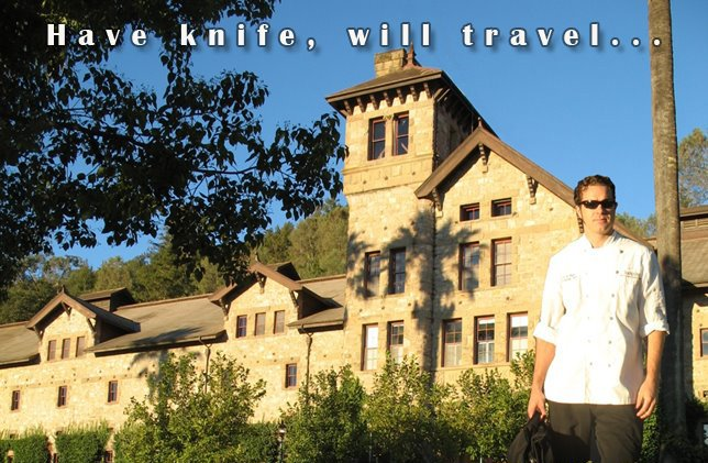 Have knife, will travel...